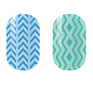 Blue/Green Hollow Nail Stickers