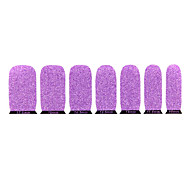 Lovely Purple Environmentally Friendly Glitter Nail Jewelry