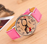 Women's Glasses Bow Leather Brown Glass Quartz Watch(Assorted Colors) Cool Watches Unique Watches