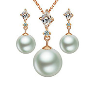 Alloy / Imitation Pearl Jewelry Set Necklace/Earrings Wedding / Party / Daily / Casual / Sports 2pcs