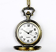 Unisex Pocket Watch Queen Zodiac Commemorative Bronze Hollow Retro Fashion Clamshell Pocket Watch