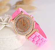 Women's European Style Fashion New Geneva Tinted Glass Silicone Watch Cool Watches Unique Watches