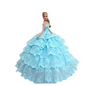 Party/Evening Dresses For Barbie Doll Sky Blue Dresses For Girl's Doll Toy