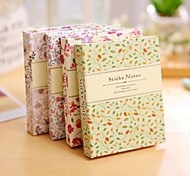 Floral Pattern Combination Self-Stick Note(1 PCS Random Color)