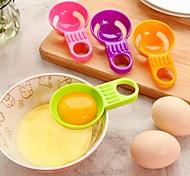 Mini clara de huevo yema de huevo separador práctica vitellus divisor blanco utensilios de cocina de cocina color al azar