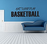 Eat Sleep Play Basketball Wall Stickers For Kids Rooms Decal Art Home Decor Basketball Sports Basketball Wall Art Decor