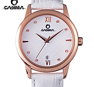 CASIMA Watch Women Leather Band Quartz Movement Diamond Dial Waterproof 50m Calendar Fahion Casual Wristwatch. Cool Watches Unique Watches