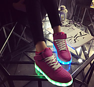 Men's / Boy's / Girl's / Women's Spring / Summer / Fall Round Toe Leatherette Outdoor / Casual / Athletic Flat Heel Lace-up / Magic Tape