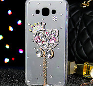 For Samsung Galaxy Case Rhinestone Case Back Cover Case Glitter Shine TPU Samsung J7 / J5