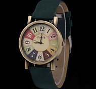 Students Retro Colorful  Dial Quartz Watch Cool Watches Unique Watches
