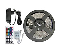 5M 150X5050 SMD RGB LED Strip Light and 44Key Remote Controller and 3A US Power Supply (AC110-240V)