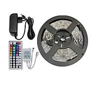 5m 150x5050 RVB SMD LED bande de lumière et télécommande 44key et nous 3A alimentation (AC110-240V)
