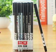 Leopard Grain Pattern Black Ink Gel Pen(1 PCS)
