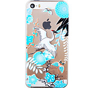 Chinese Landscape Painting Painted Pattern Soft Transparent TPU Back Case For Iphone5/5S 4.0""