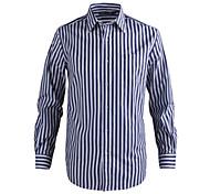 JamesEarl Men's Shirt Collar Long Sleeve Shirt & Blouse Blue - MC1ZC001667
