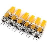 6 stuks LONGSHINE G4 3W 1 COB 180 lm Warm wit / Koel wit MR11 Decoratief 2-pins LED-lampen DC 12 / AC 12 V