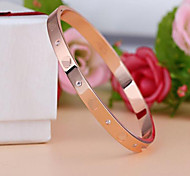 Fashion Diamond  LOVE Eternal Ring Titanium Steel Bracelet Bangles Party / Daily / Casual 1pc Christmas Gifts
