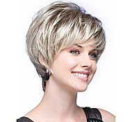Women lady Short Wigs Color White Synthetic Hair Wigs