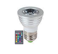 3W E14 / GU10 / E26/E27 Focos LED 1 LED de Alta Potencia 270 lm RGB Regulable / Control Remoto AC 85-265 V 1 pieza