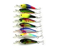 New Minnow 8pcs Hengjia Minnow Baits 63mm 6g Fishing Lures Random Colors