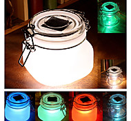 Small LED Color Changing Light Wishing Solar Powered Lantern Transparent Glass Lamp Party Path Landscape Lights