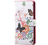 White butterfly Magnetic PU Leather wallet Flip Stand Case cover for LG K5 X220