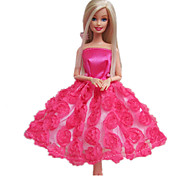 poupée barbie robe de princesse rose bonbon
