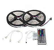 2×5M 300X2835  Waterproof LED SMD RGB LED Strip Light and 44Key Remote Controller and1BIN2 Connecting line(DC12V)