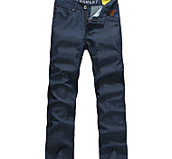 Lesmart Men Mid Rise Straight Blue Casual - LW13355