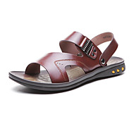 Aokang® Men's Comfy Leather Slipper Sandals(brown) - 141723070