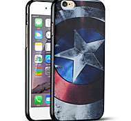 caso do Capitão América escudo protetor tampa traseira macia do iphone para 6s iphone / iPhone 6