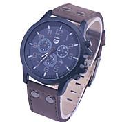 Marke Luxus-Marke Quarzuhren beiläufige Art und Weise Leder reloj UhrWatch masculino Männer Sport watche