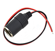 Jtron DIY 12~24V Car Cigarette Lighter Charger - (Black & Red)