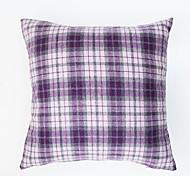 Plaid Cushion Cover -Purple
