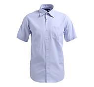 JamesEarl Men's Shirt Collar Short Sleeve Shirt & Blouse Blue - M21X5000405