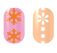 Orange/White Hollow Nail Stickers