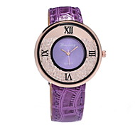 Women's Fashionable Crystal Ball Diamond Quartz Watches Leather Band Cool Watches Unique Watches