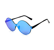 100% UV400 Round Fashion Mirrored  Sunglasses