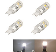 YouOKlight® 4PCS G9 3W  11*SMD5050 220LM   White Corn Bulbs (AC220-240V)