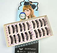 10 Pairs Black False Eyelashes