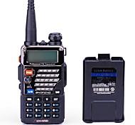 BAOFENG Portátil / Digital UV-5RB Rádio FM / Comando por Voz / Dual Band / Dual Display / Dual Standby / Tela LCD / CTCSS/CDCSS 1,5 - 3 km