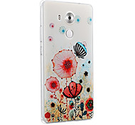 For Huawei Case / Mate 8 Embossed Case Back Cover Case Flower Hard PC Huawei Huawei Mate 8 / Huawei Enjoy 5S