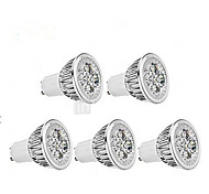 5W GU10 Точечное LED освещение / PAR лампы MR16 1 350-400 lm Тёплый белый / Холодный белый AC 85-265 V 5 шт.