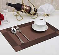 4 pcs / pvc pastilhas de tapete de mesa de jantar tigela pad porta-copos impermeável pad pano de mesa antiderrapante pad (cor aleatória)