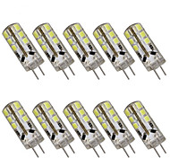 3W G4 2-pins LED-lampen T 24 SMD 2835 280 lm Warm wit / Koel wit Decoratief DC 12 / AC 12 V 10 stuks