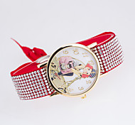 Women's Fashion Watch Quartz Fabric Band Black White Blue Red Brown Green Pink Purple Rose