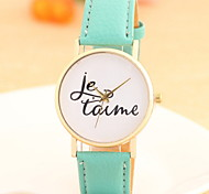 Women's Fashionable  Leisure Pattern Quartz Watch Leather Band Cool Watches Unique Watches