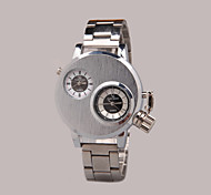 When The Two Men's Fashionable Double Movement Watches Wrist Watch Cool Watch Unique Watch