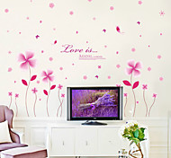 Wall Stickers Wall Decals, Beautiful Clover Butterfly PVC Wall Sticker