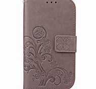 KARZEA™ Clover PatternTPU and PU Leather Case with Stand for J1/J1mini/J120/J1(2016)/J3/J510/J5(2016)
